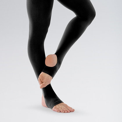 Black Stirrup Opaque Tights