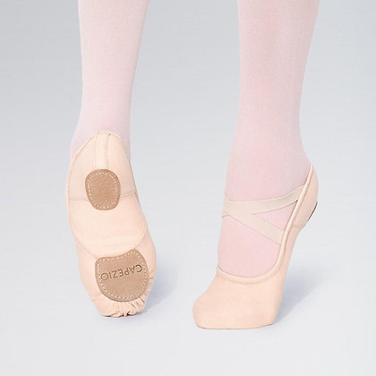Pink Canvas Ballet Shoes with Elastic