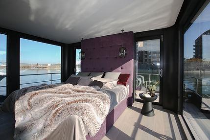 Schlafzimmer im Hausboot