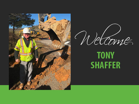 Welcome Tony Shaffer