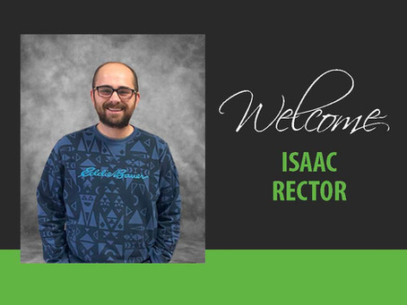Welcome Isaac Rector