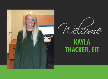 Welcome Kayla Thacker, EIT
