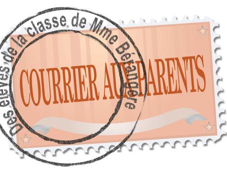 Le courrier de la classe de Madame Bérengère
