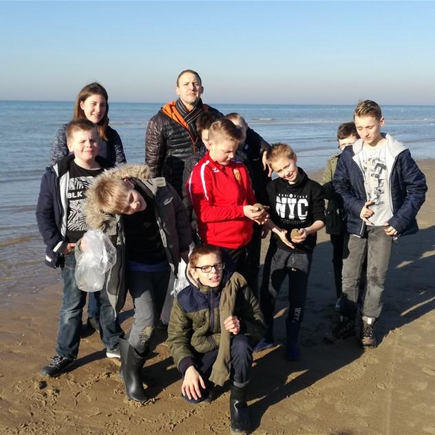 Classes de mer 2019 Ste Gertrude Brugelette à St Idesbald lundi