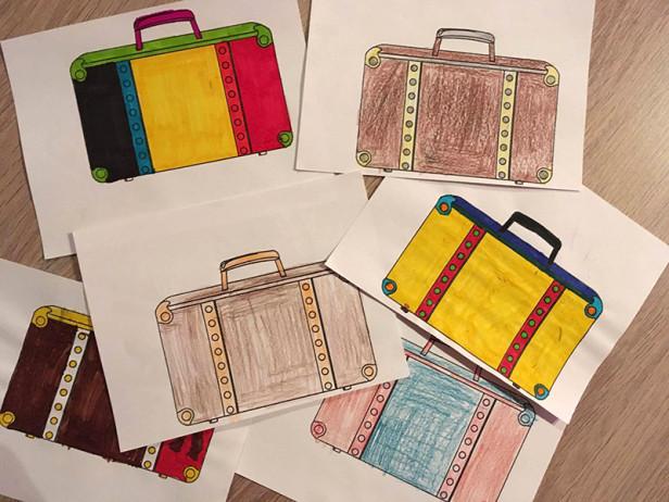 Etiquettes de valises