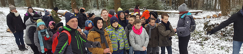 Stoumont Ste Gertrude neige élèves