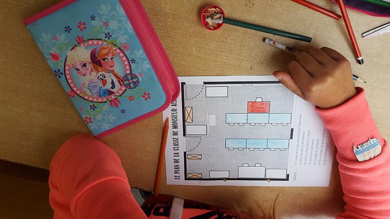 Plan de la classe de M. Alexandre à Ste-Gertrude, Brugelette