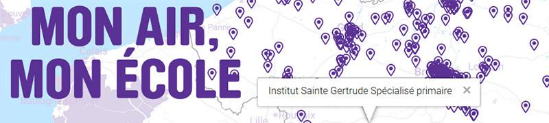 Carte Greenpeace projet mon air mon école Ste Gertrude
