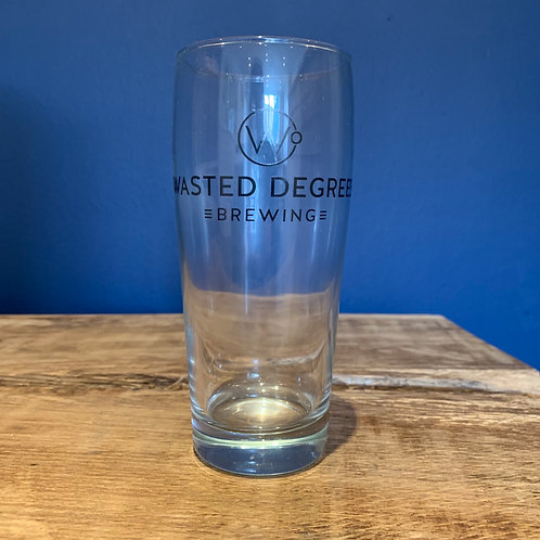 1/2 Pint Branded Glass