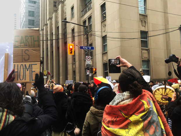 Among the Wet'suwet'en Nation supporters rallying in downtown Toronto