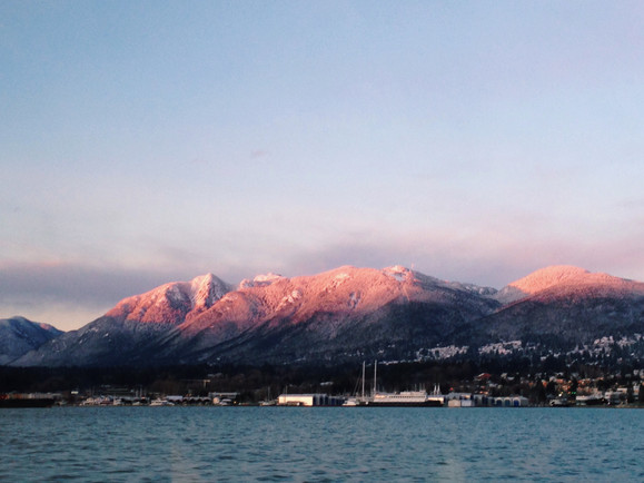 Cotton candy mountains in Vancouver