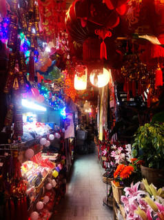 Surreal colours in Chinatown, Vancouver
