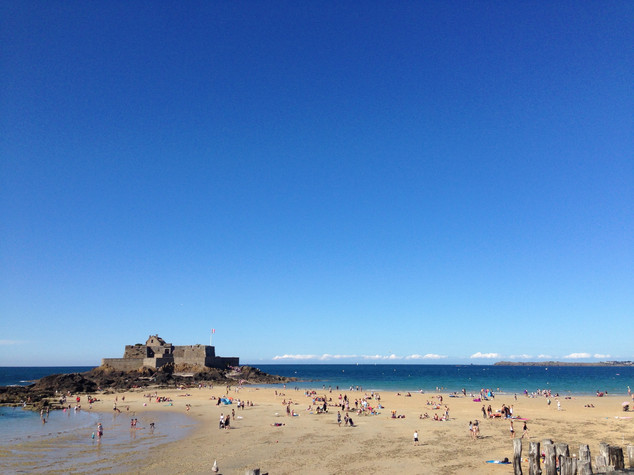 Catching a breeze in Saint-Malo, France