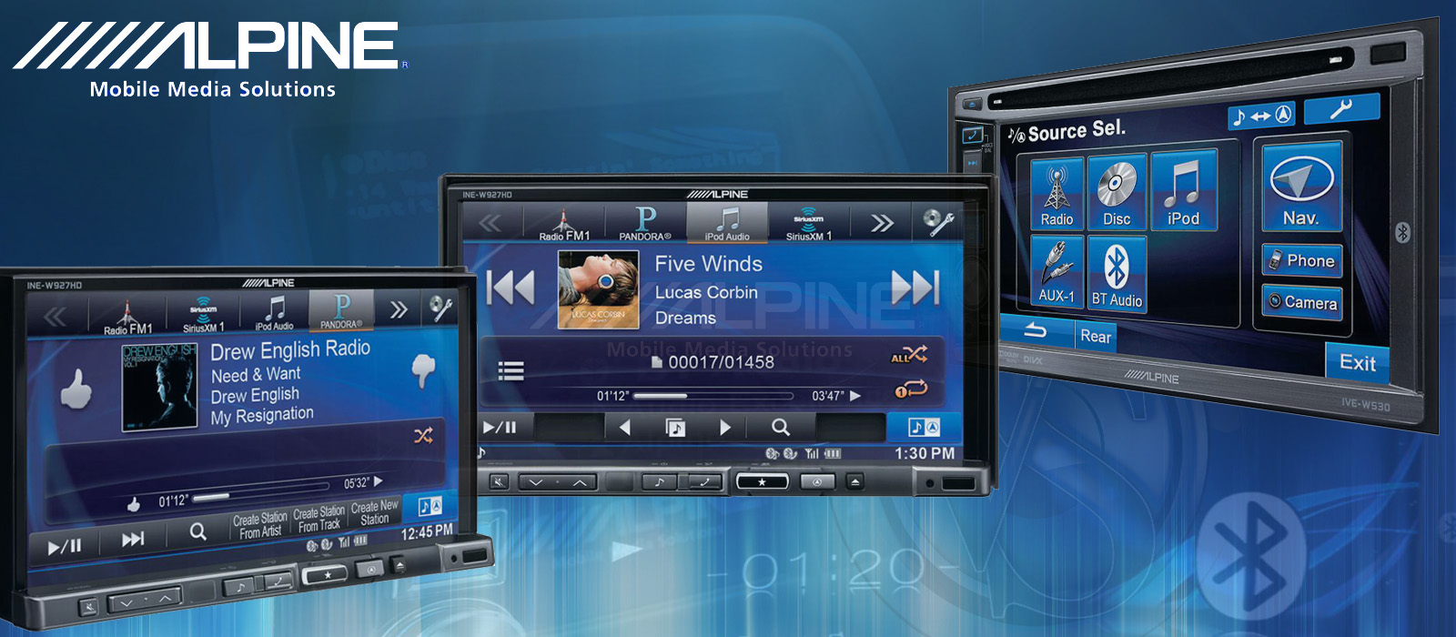 Alpine Double Din DVD Receivers