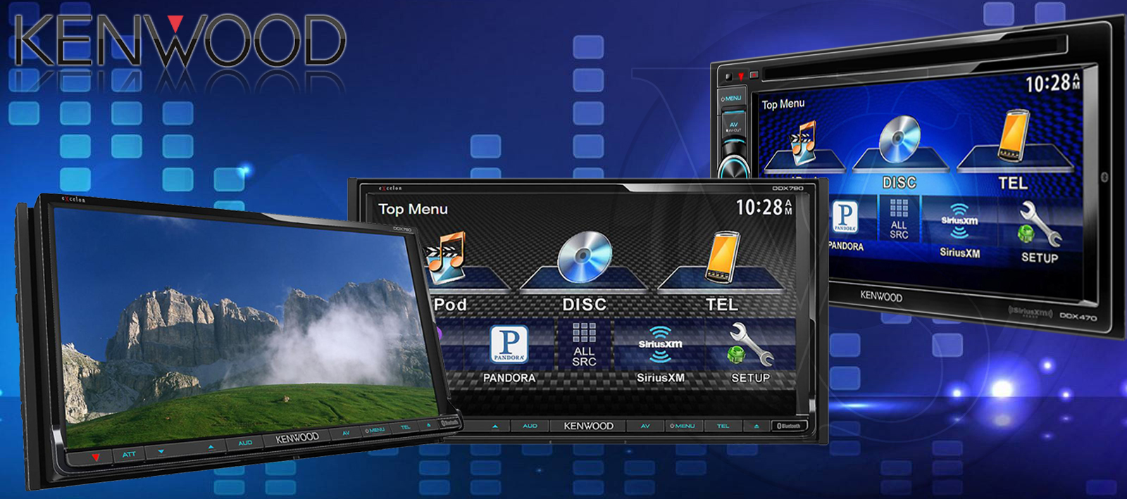 Kenwood Double Din DVD Receivers