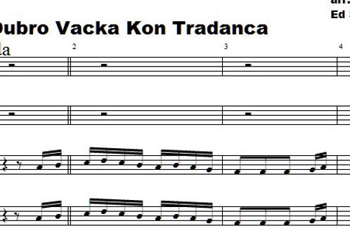 Dubro Vacka Kon Tradanca  Full score 8 parts