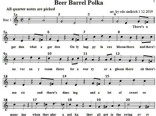 Beer Barrel Polka Lead and Bugarija Chords