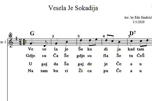 Vesela Je Sokadija Lead,Bug & Lyrics