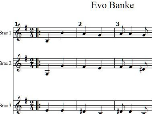 Evo Banke  Full Score 6 Parts