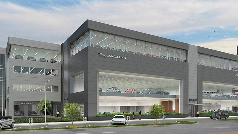 Coming Soon to Boston! Look for this 197,657 square foot Herb Chambers Jaguar Land Rover dealership