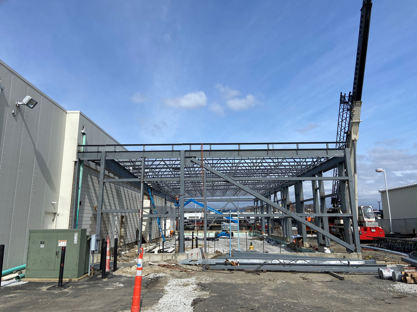 Check out the steel going up this week at Herb Chambers BMW of Medford.