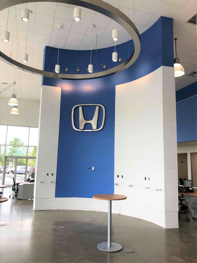 Check out the progress on the interior of Planet Honda in Tilton, NH.