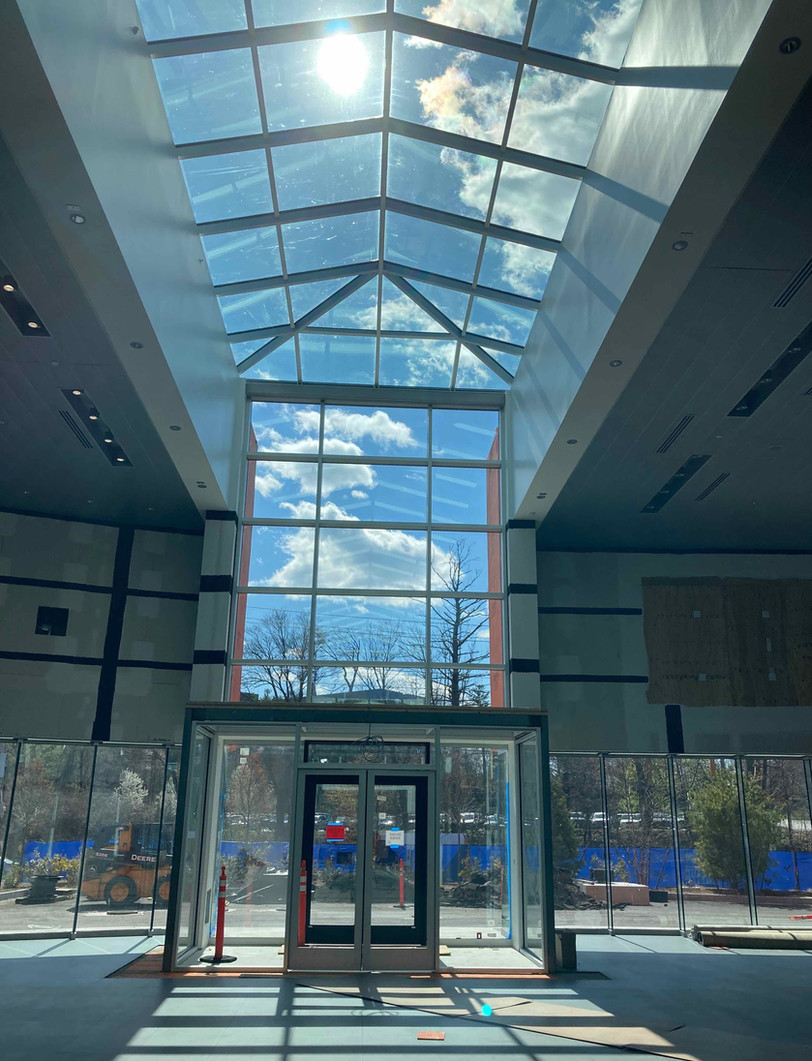 Beautiful daylight coming in the entryway at Herb Chambers Porsche of Burlington.