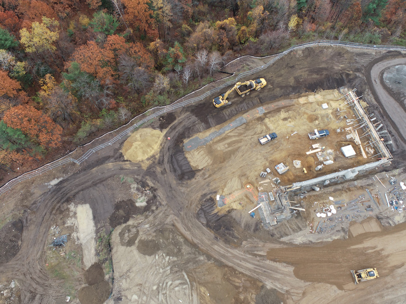 Bird's eye view of the new Planet Honda coming to Tilton, NH