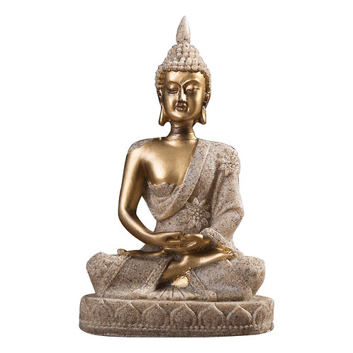 Sandstone Resin Miniature Desktop  Buddha Statue