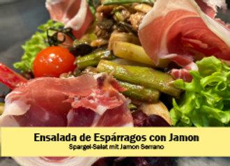 Lauwarmer Spargelsalat mit Jamon