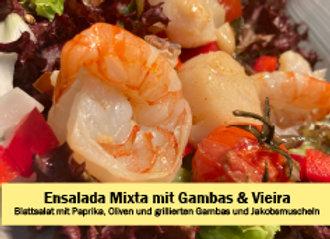 Ensalada Mixta mit Gambas