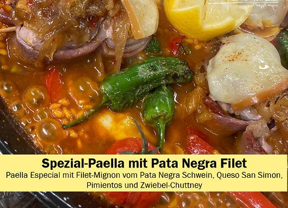 Spezial Paella mit Filet vom Pata Negra