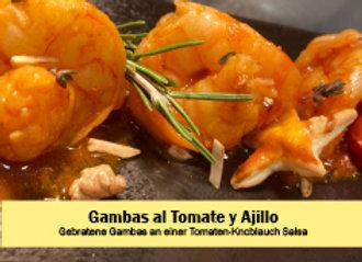 Gambas al Tomate y Ajillo