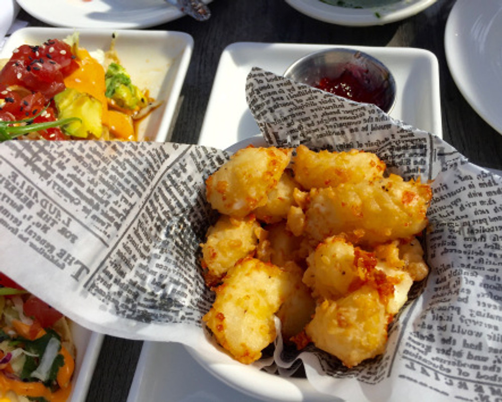 Seattle, Part I-fried Beecher's cheese curds at Lobster Shop
