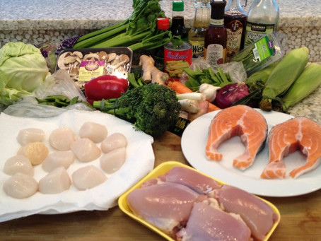Today's SCHOP! Client Menu: The Raw Ingredients