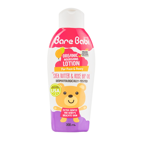 Bare Babi Organic  Lotion 300ml 800x800.
