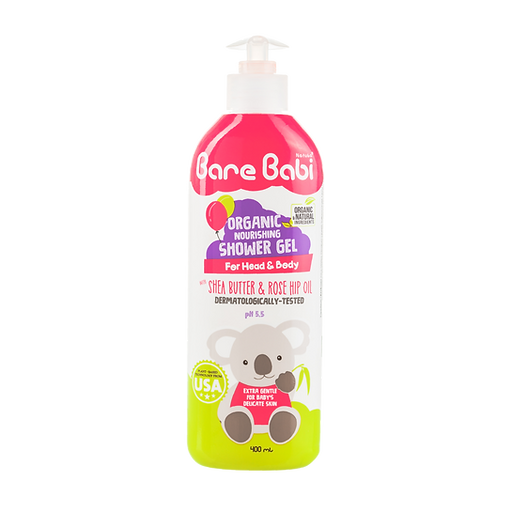 Bare Babi Organic  Shower Gel 400ml 800x