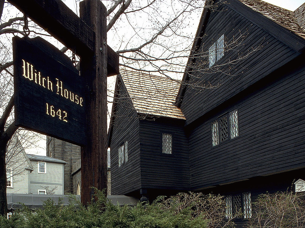 The Salem Witch house of Salem Massachusetts. It is the only house directly connected to the Salem Witch Trial.