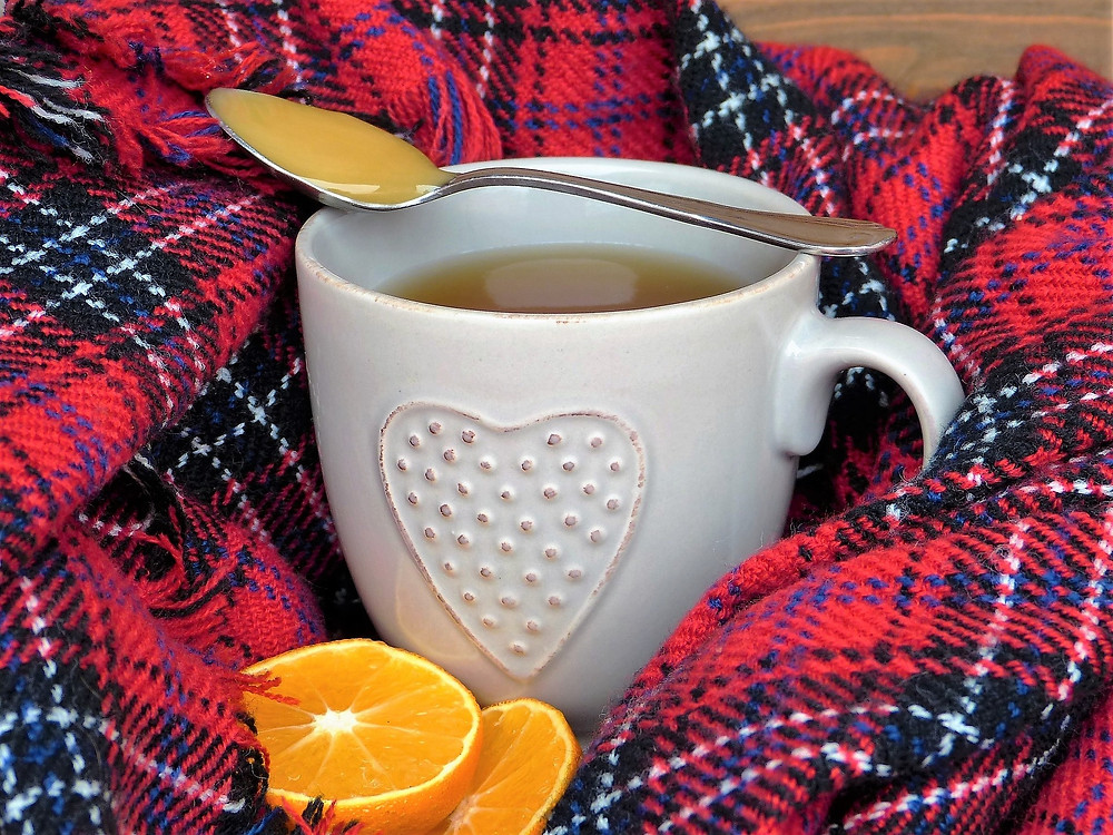 Cup of tea with honey