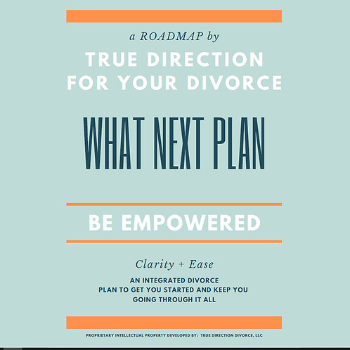 True Direction for your Divorce - FREE WORKBOOK