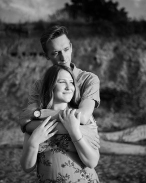 Black and white couples portrait