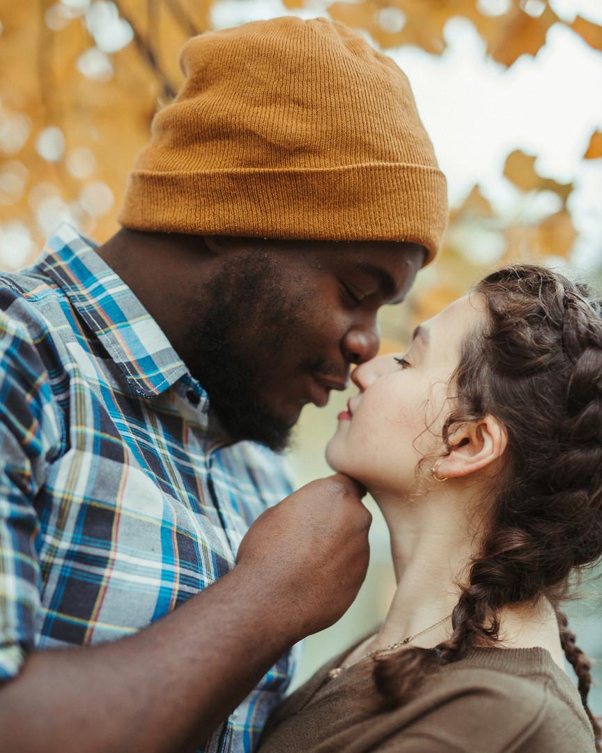Multiracial Couple Portrait