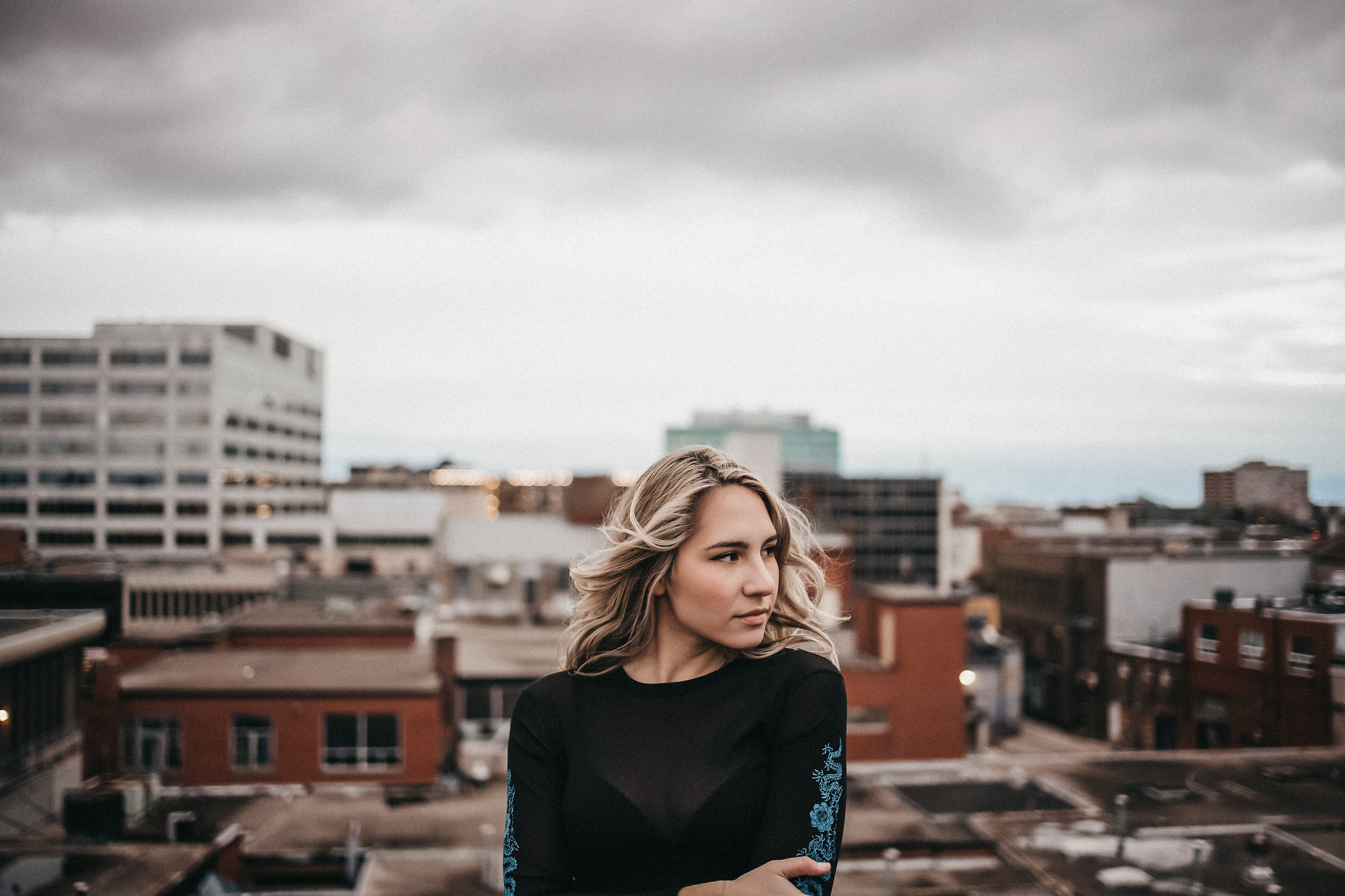 moody female portrait
