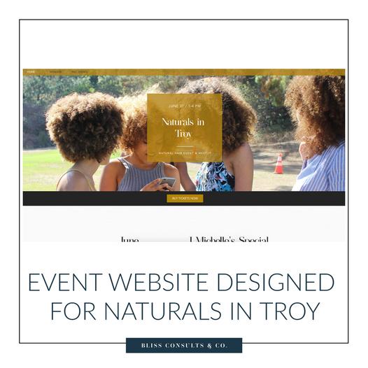 NaturalsinTroy Website Showcase