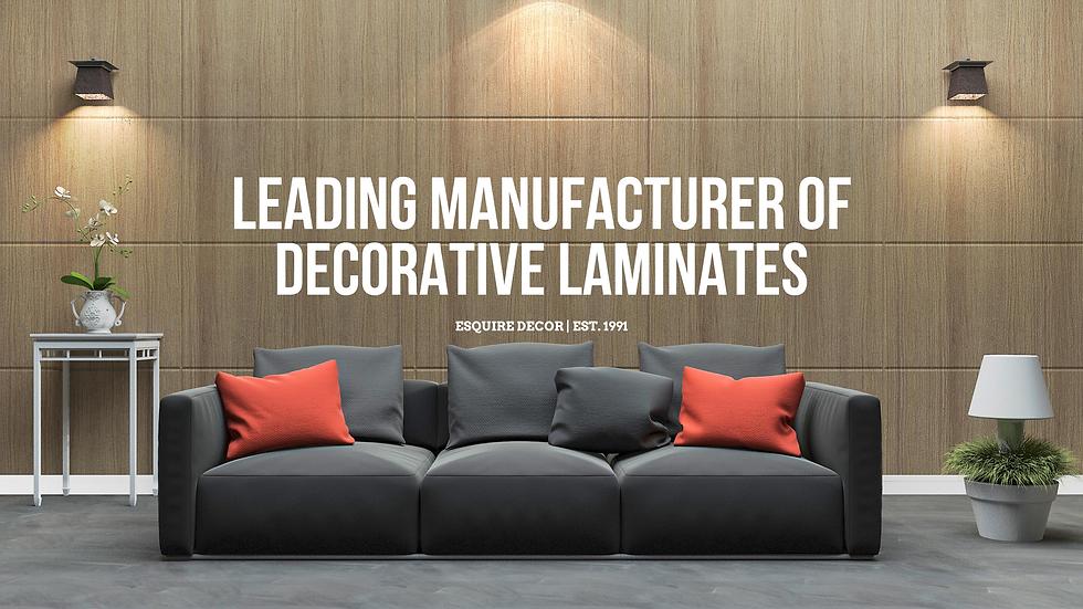 Leading Manufacturer of Decorative Laminates Esquire Decor