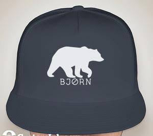 MidNite Bear Flat Bill Hat