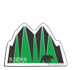 "BJORN ""Forest Walk"" Bear Sticker"