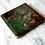 Thumbnail: Green and bronze ceramic & resin coasters