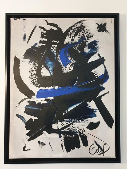 Black & Blue, 86x66cm