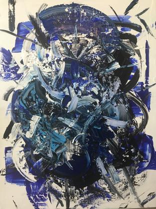 Monsieur Bleu 120x90cm